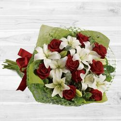 Lovely Lilies N Roses Bouquet
