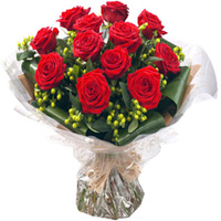 Lovely Birthday Red Rose Bouquet