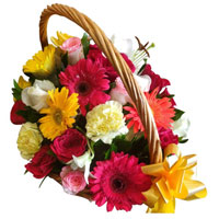 Premium Basket of Assorted Flowers