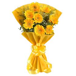 Designer Bouquet of Yellow Gerberas