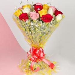 Premium Mixed Rose Bouquet