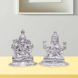 Silver Laxmi Ganesha