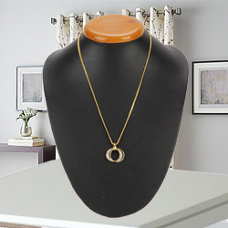 Duet-of-Romance Stone-Primed Pendant with Chain