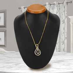 Spectacular Ayla Double Knot Pendant with Chain