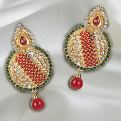 Admirable Stone Studded Earring Set