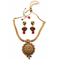 Astonishing Necklace Set in Golden Design