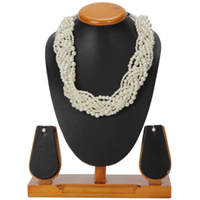 Gorgeous Pearl Plait Necklace and Earrings Set Presented by Avon