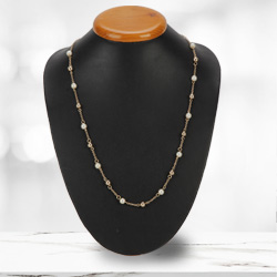 Captivating Gold Plated Pearl Necklace from Avon<br>