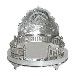 Auspicious Silver Plated Mandir Case