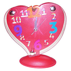 Retro-Style Red Heart Shaped Alarm Clock