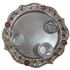 Artistic Meenakari Aarti Thali with Touch of Prosperity