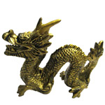 Sacred Golden Feng-Shui Dragon