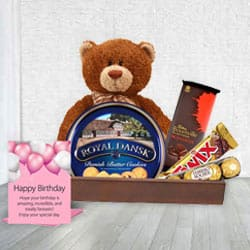 Birthday Essential Cookies N Chocolate Gift