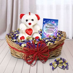 Ravishing Choco Lovers Gift Basketbr