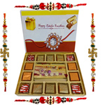 Delicious Pack of 140 gm. Chocolates with 4 Rakhis