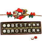 Attractive Rakhi and Best Brother Chocolate Pack