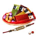 Amazing Chocolate Gift Basket with Pearl Rakhi