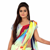 Amazing Digital Printed Georgette Saree in Multicolour
