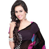 Mesmerizing Multi-Coloured Georgette Saree