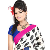 Elegant Faux Georgette Printed Saree