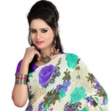 Arresting Faux Georgette Printed Saree