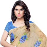 Prismatic Inflation Faux Georgette Saree