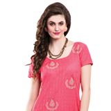 Attractive Chiffon Embroidered Salwar Kameez in Pink