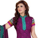 Lovely Siya Women�s Crepe N Chiffon Printed Salwar Suit