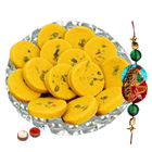 Sweet time for Rakshabandhan with Kesaria Pedas from <font color=#FF0000>Haldiram</font> and 1 Free Rakhi, Roli Tilak and Chawal