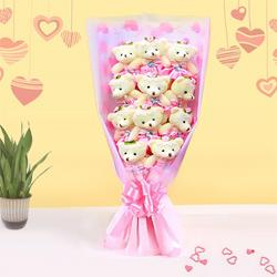 Cute Gift of Teddy Bouquet