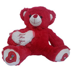 Alluring Red and White Teddy Bear