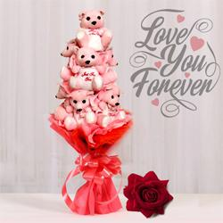 Plush Teddy Bear Bouquet for Valentines Day