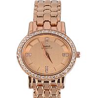 Ravishing Present of Stone Studded Rose Gold Ladies Wrist Watch