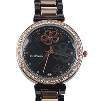 A Gorgeous  American Diamonds Black & Rose Gold Color Womens Watch