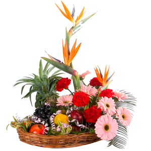 Heavenly Fruits 5 Kg. with Flowers Bouquet